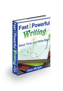 Book cover for fast and powerful writing
