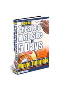 How to Create a Web Site in 5 Days Book Cover