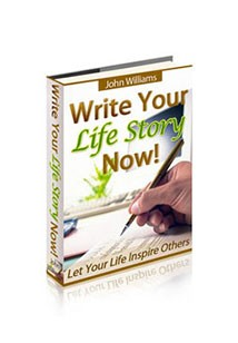 Book cover for write you life story now